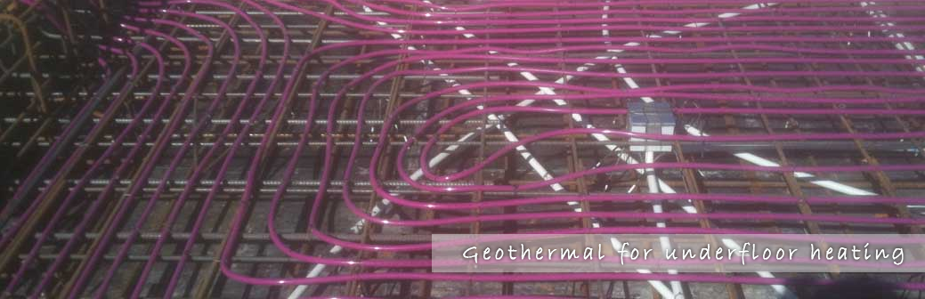 Geothermal for underfloor heating